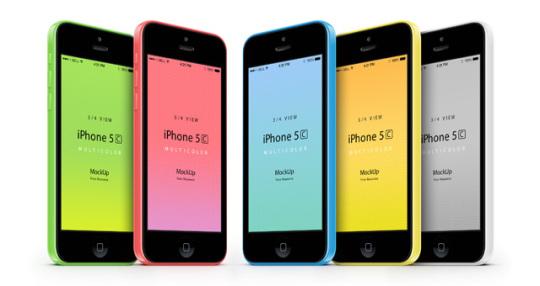 001-iphone-5C-mobile-celular-multicolors-three-quarters-view-3d-mock-up-psd